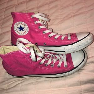 Hot Pink Converse High Top